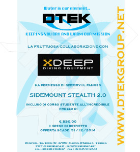 Volantino promozionale offerta kit Sidemunt Stealth 2.0 e corso